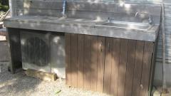 庭にあると便利な木製のガーデンシンクを手作りDIY