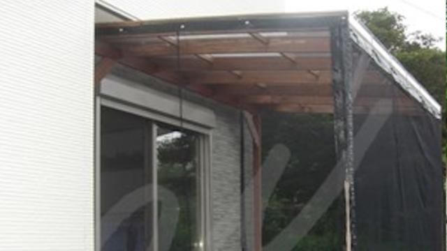 蚊帳付きの木製パーゴラ(テラス)を手作りDIY