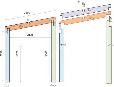 自作テラスの構想図